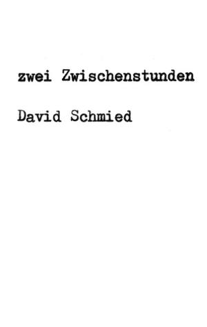 Schmied, David. zwei Zwischenstunden - Eine Tragik