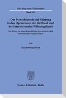 Das Menschenrecht auf Nahrung in den Operationen der Weltbank und des Internationalen Währungsfonds.