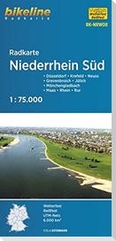 Radkarte Niederrhein Süd 1:75.000 (RK-NRW08)
