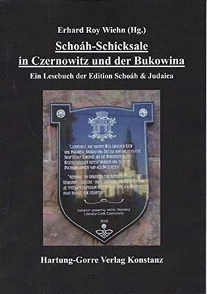 Wiehn, Erhard Roy (Hrsg.). Schoáh-Schicksale in Czernowitz und der Bukowina - Ein Lesebuch der Edition Schoáh & Judaica. Hartung-Gorre Verlag, 2021.