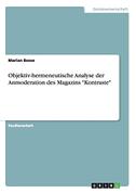 """Objektiv-hermeneutische Analyse der Anmoderation des Magazins """"Kontraste"""""""