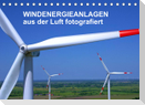 Windkraftanlagen aus der Luft fotografiert (Tischkalender 2022 DIN A5 quer)