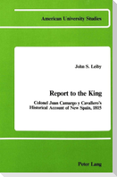 Report to the King