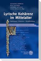 Lyrische Kohärenz im Mittelalter