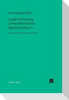 Logik-Vorlesung. Unveröffentlichte Nachschriften II