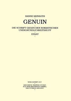 Seinsoth, Hanne. Genuin. Books on Demand, 2000.