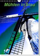 Mühlen in blau (Wandkalender 2022 DIN A4 hoch)