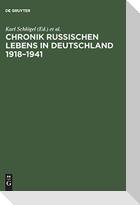 Chronik russischen Lebens in Deutschland 1918-1941