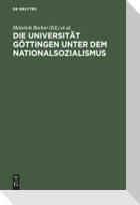 Die Universität Göttingen unter dem Nationalsozialismus