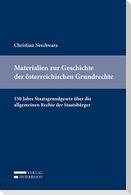 Materialien zur Geschichte der österreichischen Grundrechte