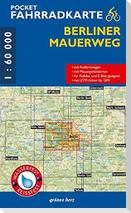 Pocket-Fahrradkarte Berliner Mauerweg 1:60 000