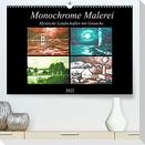 Monochrome Malerei - Mystische Landschaften mit Gouache (Premium, hochwertiger DIN A2 Wandkalender 2022, Kunstdruck in Hochglanz)