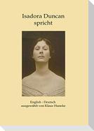 Isadora Duncan spricht
