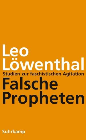 Löwenthal, Leo. Falsche Propheten - Studien zur f