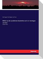 Blätter aus der preußischen Geschichte von K. A. Varnhagen von Ense
