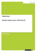 British culture since 1945 Part IV