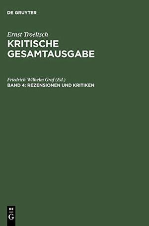 Friedrich Wilhelm Graf / Gabriele von Bassermann-Jordan. Kritische Gesamtausgabe / Rezensionen und Kritiken - (1901-1914). De Gruyter, 2004.