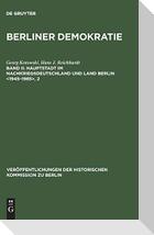 Hauptstadt im Nachkriegsdeutschland und Land Berlin <1945-1985>