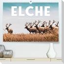 Elche - Die imposanten Trughirsche. (Premium, hochwertiger DIN A2 Wandkalender 2022, Kunstdruck in Hochglanz)