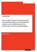 Eine vergleichende Untersuchung der Demokratiestrukturen in Deutschland, Spanien und Großbritannien. Die Regierungs- und Steuerungsfähigkeit