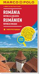 MARCO POLO Länderkarte Rumänien, Republik Moldau 1:800 000