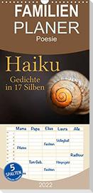 Haiku - Gedichte in 17 Silben (Wandkalender 2022 , 21 cm x 45 cm, hoch)