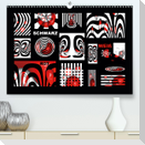 SCHWARZ, WEIß, ROT (Premium, hochwertiger DIN A2 Wandkalender 2021, Kunstdruck in Hochglanz)