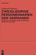 Zweigliedrige Personennamen der Germanen