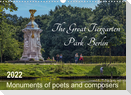 The Great Tiergarten Park Berlin - Monuments of poets and composers (Wall Calendar 2022 DIN A3 Landscape)