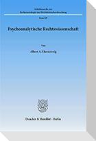 Psychoanalytische Rechtswissenschaft
