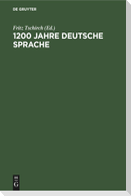 1200 Jahre deutsche Sprache