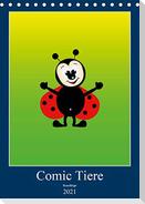 Kuschlige Comic Tiere (Tischkalender 2021 DIN A5 hoch)