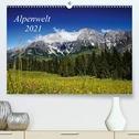 Alpenwelt 2021 (Premium, hochwertiger DIN A2 Wandkalender 2021, Kunstdruck in Hochglanz)