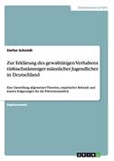 Zur Erklärung des gewalttätigen Verhaltens türkischstämmiger männlicher Jugendlicher in Deutschland