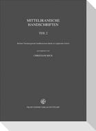 Mitteliranische Handschriften