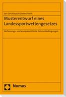 Musterentwurf eines Landessportwettengesetzes