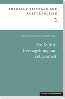 Pro Kultur: Gesetzgebung und Lobbyarbeit