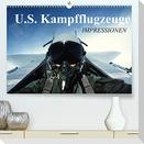 U.S. Kampfflugzeuge. Impressionen (Premium, hochwertiger DIN A2 Wandkalender 2022, Kunstdruck in Hochglanz)