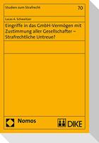 Eingriffe in das GmbH-Vermögen mit Zustimmung aller Gesellschafter - Strafrechtliche Untreue?