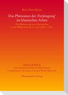 """Das Phänomen der """"Verjüngung"""" im klassischen Athen"""
