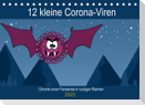 12 kleine Corona-Viren (Tischkalender 2022 DIN A5 quer)