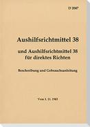 D 2047 Aushilfsrichtmittel 38 - Beschreibung und Gebrauchsanleitung