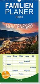 Montenegro - Land der schwarzen Berge - Familienplaner hoch (Wandkalender 2021 , 21 cm x 45 cm, hoch)