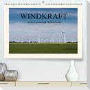 Windkraft in der Landschaft Ostfrieslands (Premium, hochwertiger DIN A2 Wandkalender 2022, Kunstdruck in Hochglanz)