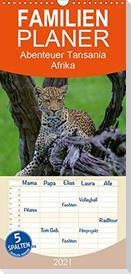 Abenteuer Tansania, Afrika - Familienplaner hoch (Wandkalender 2021 , 21 cm x 45 cm, hoch)