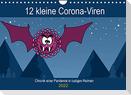 12 kleine Corona-Viren (Wandkalender 2022 DIN A4 quer)