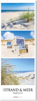 Strand & Meer Triplets 2022 - Beach & Ocean - Streifenkalender XXL