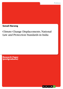 Climate Change Displacements, National Law and Protection Standards in India
