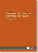 Romanian Parliamentary Elections 1990-2012